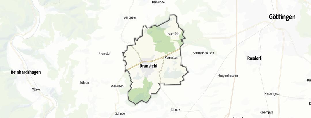 Karte / Joggingstrecken in Dransfeld