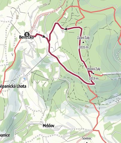 Map / VYSTUP K ROZHLEDNE ZALY