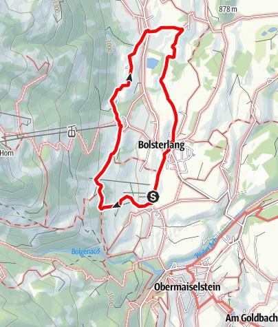 Karte / Bolsterlanger Bergblick-Wanderweg von Sonderdorf nach Kierwang