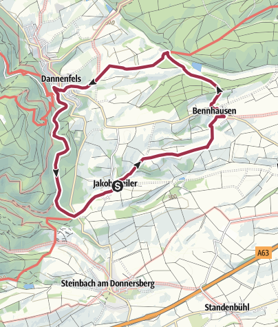 Karte / Rundtour Dannenfels/Donnersberg