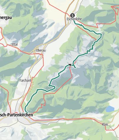 Karte / Überschreitung des Estergebirges
