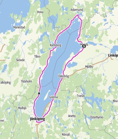 Karte / Vätternrundan 2014