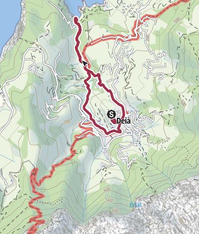 Karte / Vom Ort Deià zur Cala de Deià