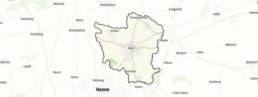 Mapa / Rutas en bicicleta en Ahlen