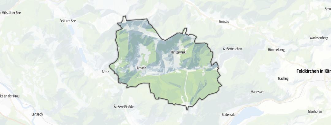 Karte / Themenwege in Arriach