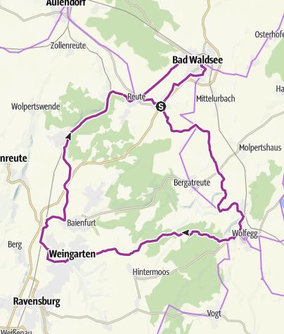 Map / TOUR 9: Durch den großen Wald zur schwäbischen Eisenbahn