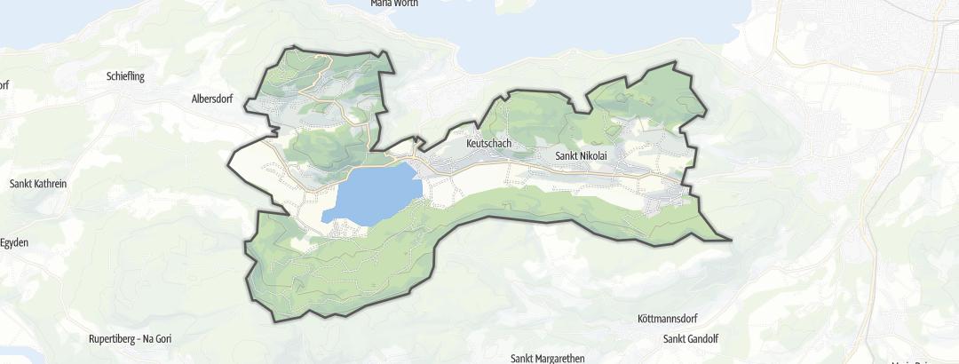 Karte / Trailrunning-Strecken in Keutschach am See