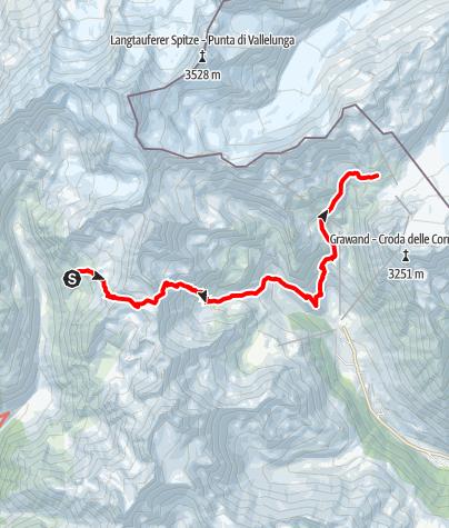 Karte / Von der Oberetteshütte zur Schönen Aussicht im Schnalstal