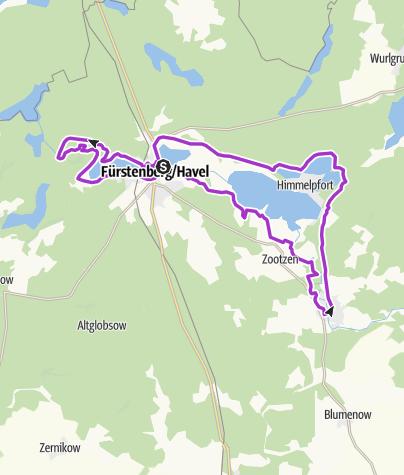 Karte / Laufpark Stechlin - Wabe Blau/Strecken 1/2/3