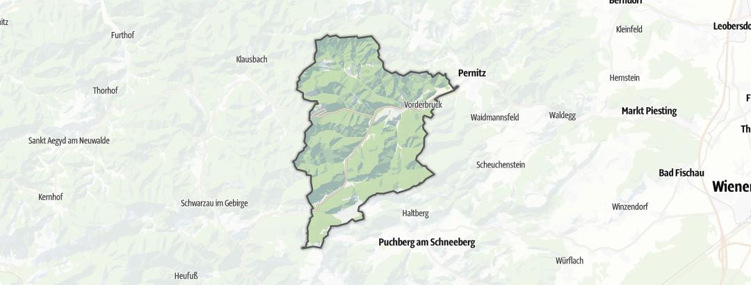 地图 / 在Gutenstein里的登山路线