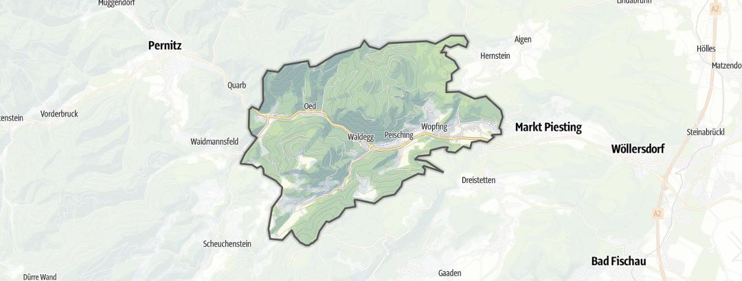 地图 / 在Waldegg里的登山路线