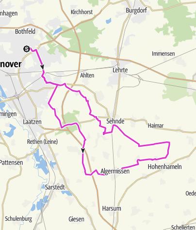 Mappa / Kleine RR-Trainingsrunde in den Südosten Hannovers