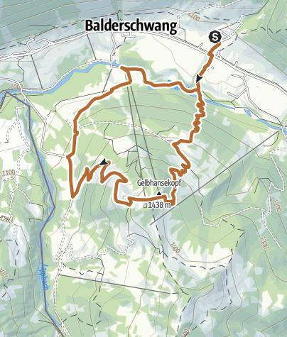 Karte / Balderschwang - Gipfel-Walkingtour