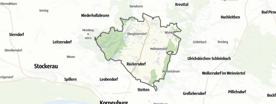 Karte / Wanderungen in Harmannsdorf