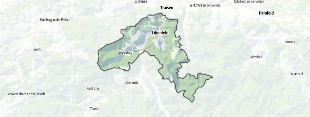 Karte / Berghütten in Lilienfeld