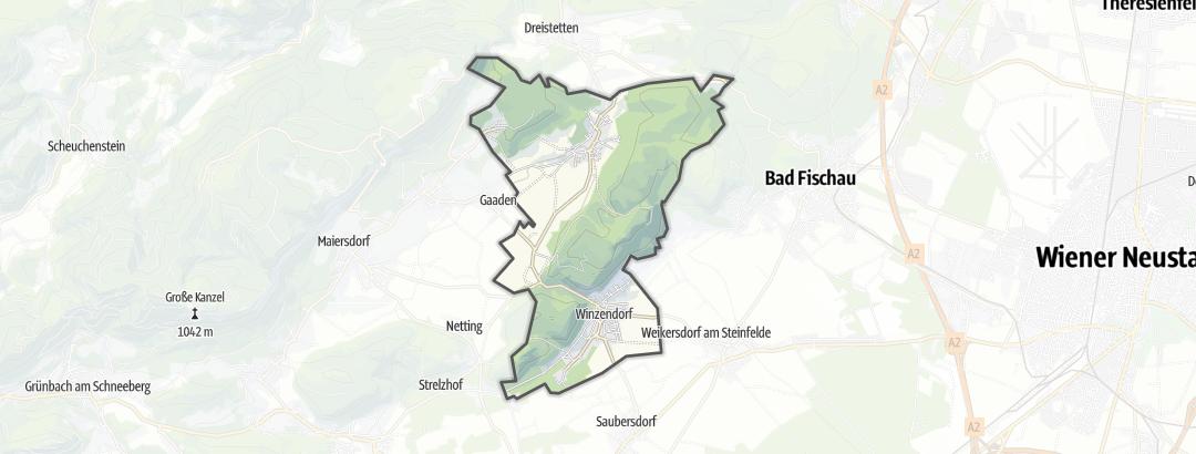 地图 / 在Winzendorf-Muthmannsdorf里的登山路线