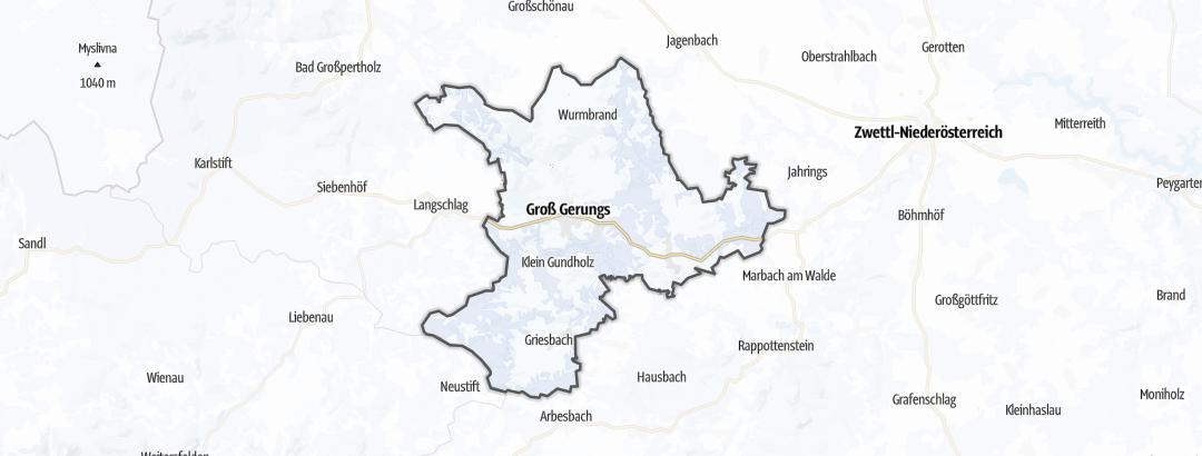 Hartă / Sporturi de iarnă in Groß Gerungs