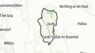 מפה / Kirchbach in Steiermark