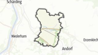 Cartina / Taufkirchen an der Pram