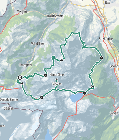 Karte / Rund um die Dents-du-Midi