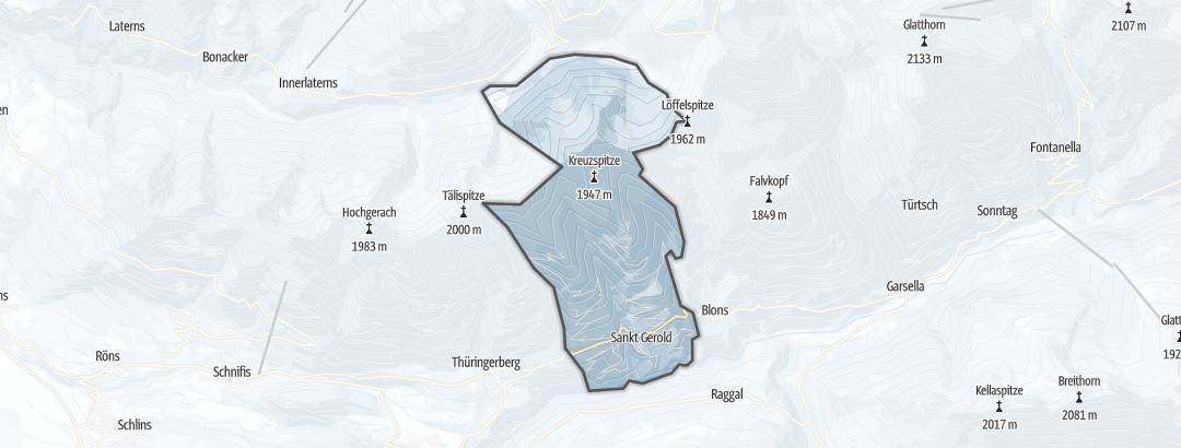 Térkép / Sítúra,  Sankt Gerold területén