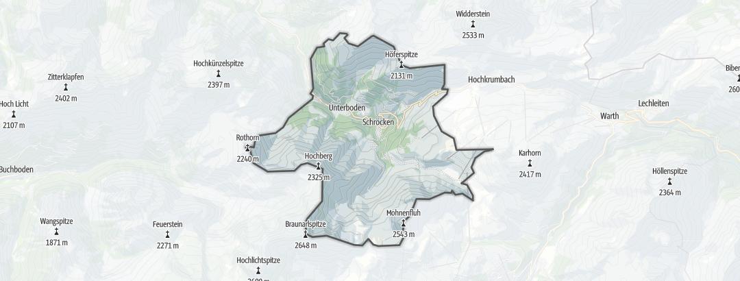 Map / Hikes in Schröcken