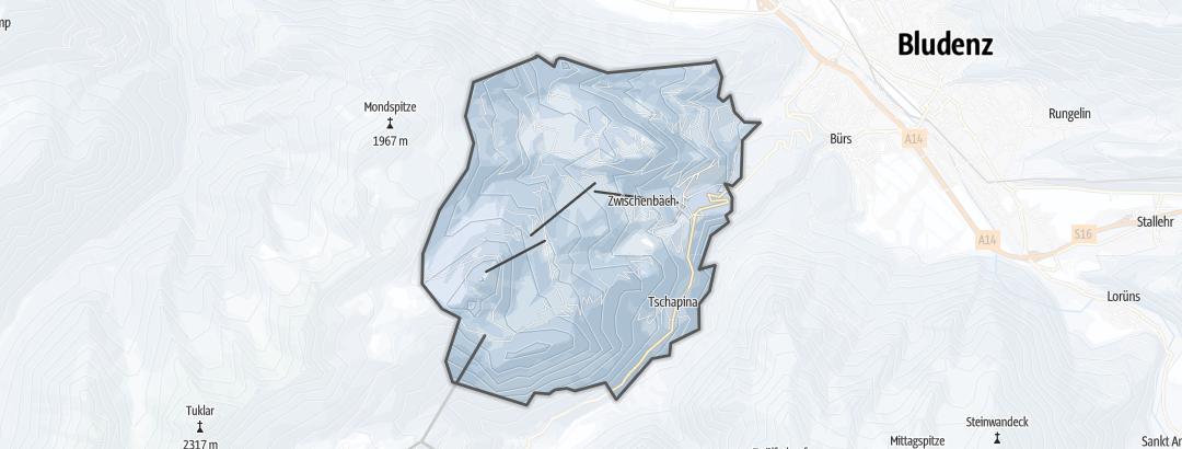 Kart / Aking i Bürserberg