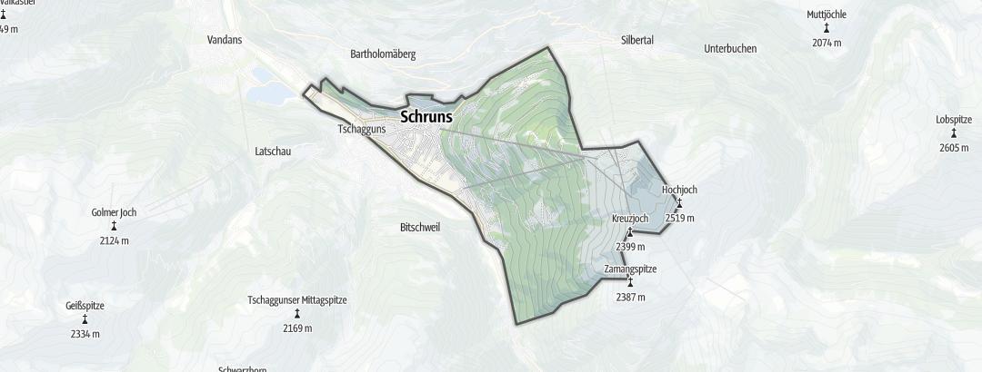 Kartta / Tuotteet ja paketit kohteessa Schruns