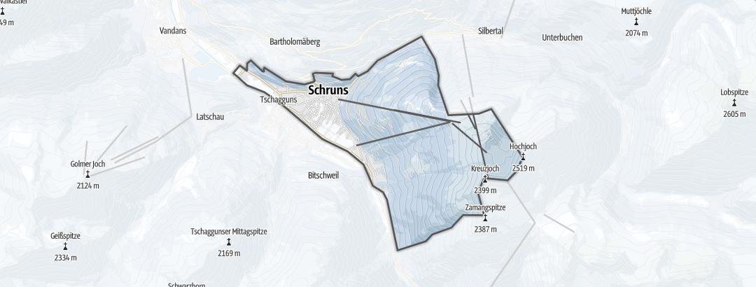 Térkép / Sítúra,  Schruns területén