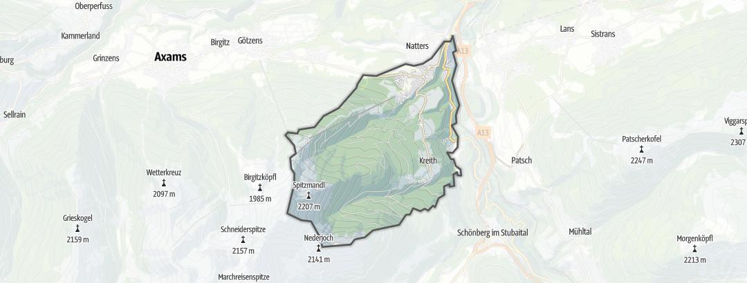 Karte / MTB-Touren in Mutters