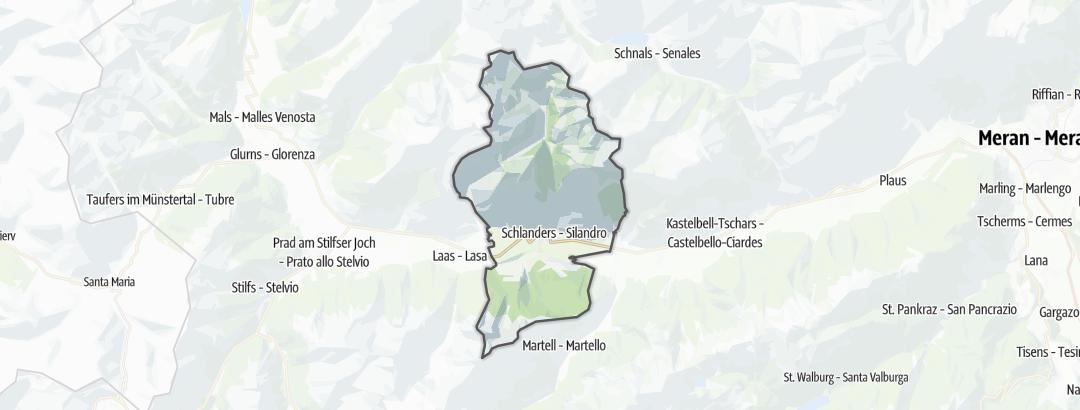 Térkép / Hegyi túrázás,  Schlanders területén