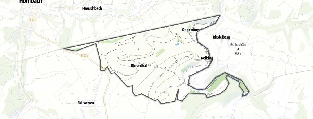 Karte / Wanderungen in Rolbing