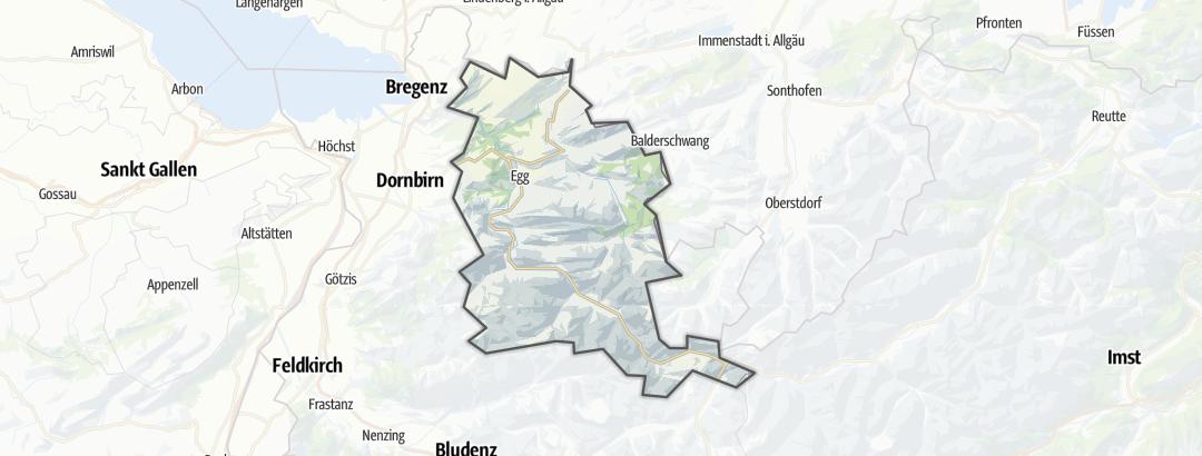 Carte / Activités de montagne - Bregenzerwald