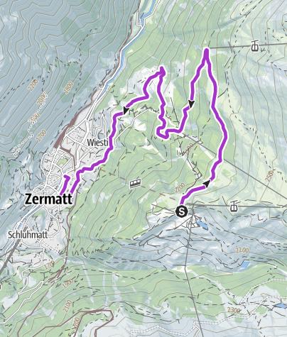 Karte / Streckencheck Zermatt HM 1. Juli 2014