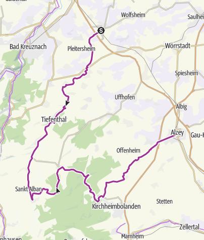 מפה / Rundkurs Sprendlingen Alzey Sprendlingen