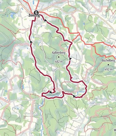 Karte / Von Zenting über Neuhof nach Ranfels