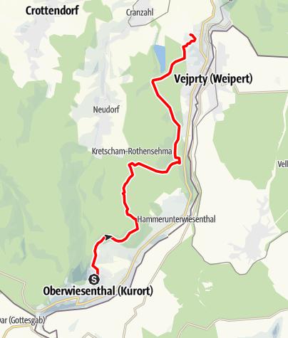 Karte / Stoneman Miriquidi Abschnitt Oberwiesenthal Bärenstein