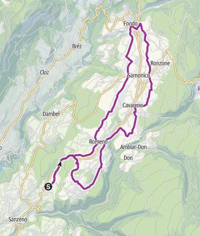 Cartina / Pista ciclabile dell'Alta Val di Non