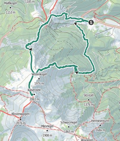 Karte / Schneeberg  Fischerhütte über Nandlgrat