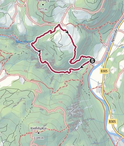 Karte / Wanderrundgang durch die Almbachklamm
