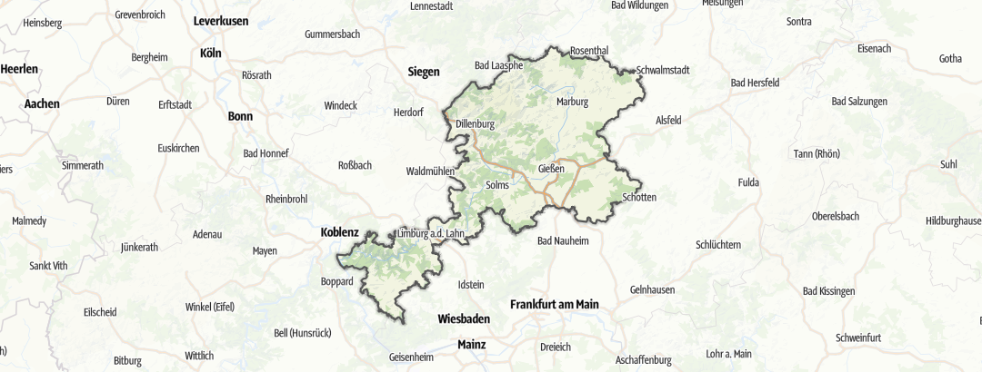 Map / Youth hostels in Lahntal