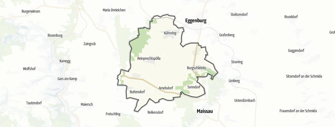 Karte / Radfahren in Burgschleinitz-Kühnring