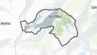 Térkép / Val-d'Illiez