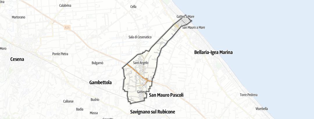 Karte / Radtouren in Gatteo