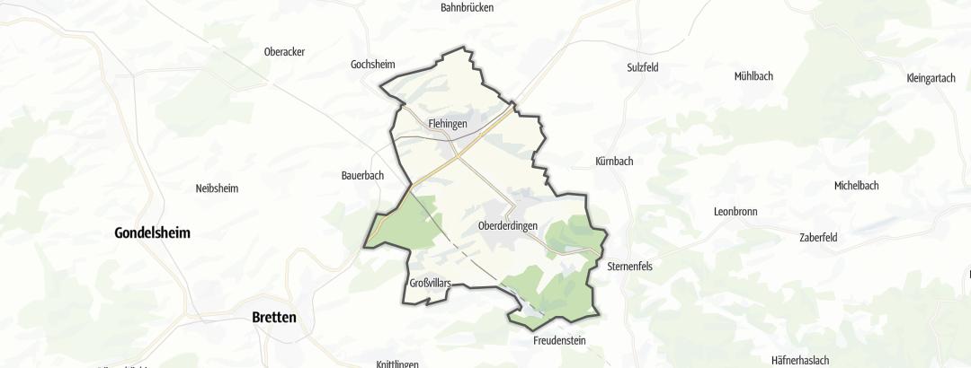 Map / Hikes in Oberderdingen