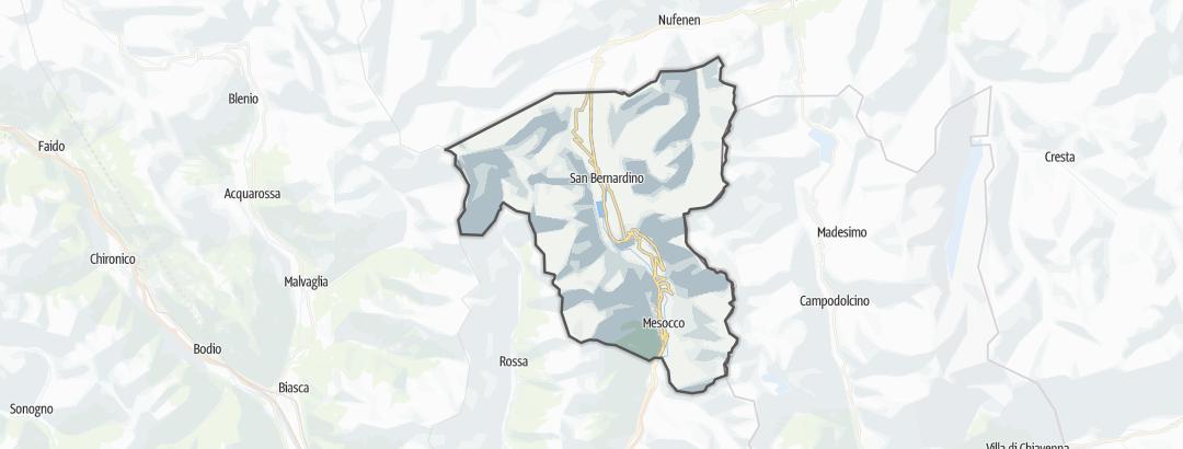 Карта / Походы в Mesocco