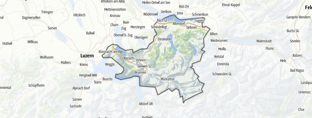 Mapa / Rodinná dovolená v oblasti Canton of Schwyz