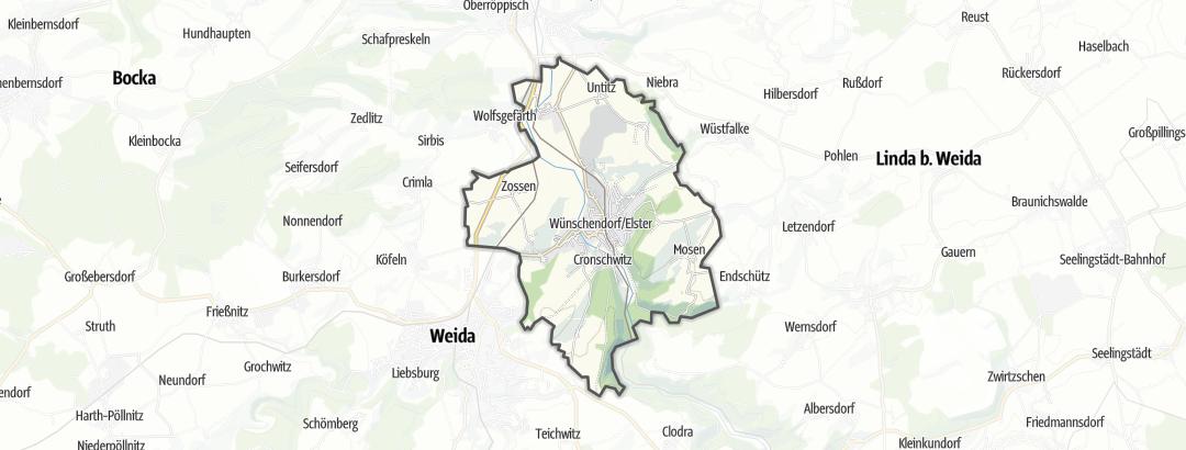 מפה / טיולים רגליים בWünschendorf/Elster