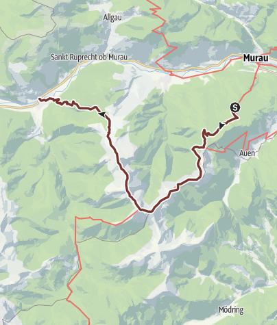 Map / Leonhardsweg Etappe G3B: Frauenalpe - Kammwanderung - Stadl