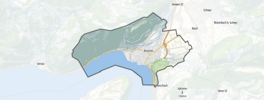 Mapa / Rutas en bicicleta en Ingenbohl